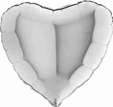Silver Foil Heart 24in/60cm