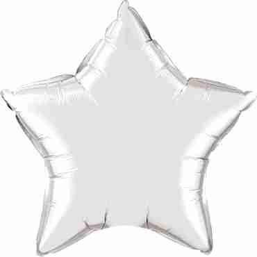 silver foil star 20in/50cm