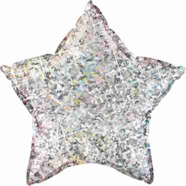 Silver Holographic Foil Star 9in/22.5cm
