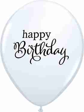Simply Happy Birthday Standard White Latex Round 11in/27.5cm