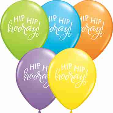 Simply Hip Hip Hooray Bright Pastel Assortment Latex Round 11in/27.5cm