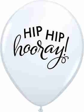 Simply Hip Hip Hooray Standard White Latex Round 11in/27.5cm