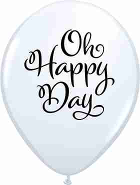 Simply Oh Happy Day Standard White Latex Round 11in/27.5cm