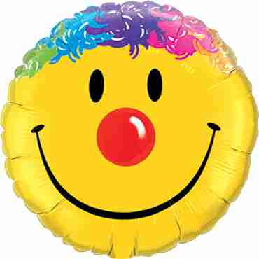 Smile Face Foil Round 9in/22.5cm