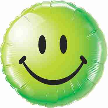 Smiley Face Green Foil Round 18in/45cm