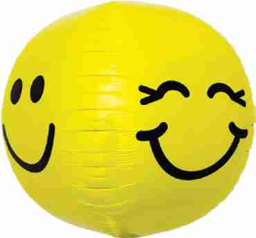 Smiley Face Sphere 17in/43cm