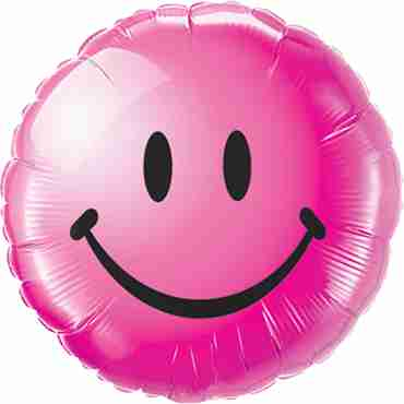 Smiley Face Wild Berry Foil Round 18in/45cm