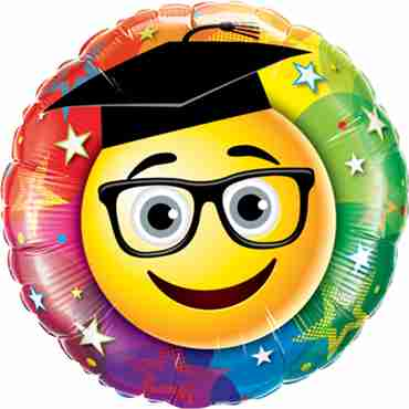 Smiley Graduate Foil Round 18in/45cm