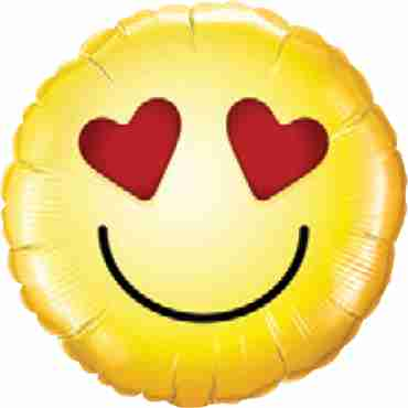 Smiley Love Foil Round 9in/22.5cm
