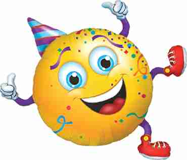 smiley party guy foil shape 38in/97cm