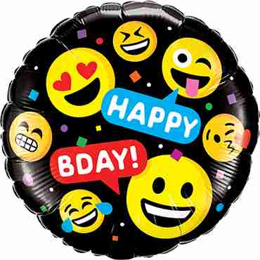 Smiley's Happy Birthday Foil Round 18in/45cm