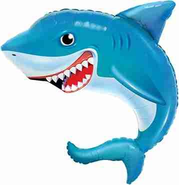 Smilin Shark Foil Shape 36in/90cm