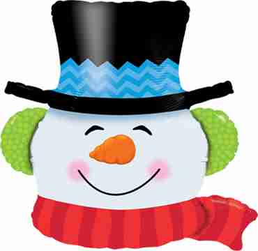 Smilin Snowman Foil Shape 36in/90cm