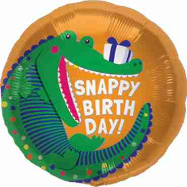 snappy birthday foil round 18in/45cm