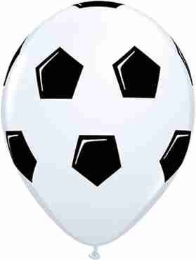 Soccer Ball/Football Standard White Latex Round 11in/27.5cm