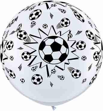 Soccer Balls Standard White Latex Round 36in/90cm