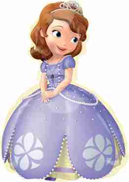 Sofia the First Vendor Foil Shape 17in/43cm x 26in/66cm