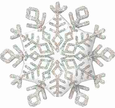 Sparkle Snowflake Foil Shape 40in/102cm