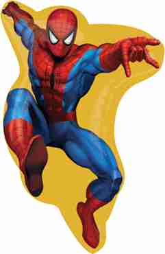 spider-man vendor foil shape 16in/41cm x 23in/58cm