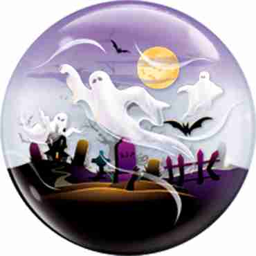 Spooky Ghosts Single Bubble 22in/55cm