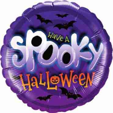 Spooky Halloween Foil Round 18in/45cm