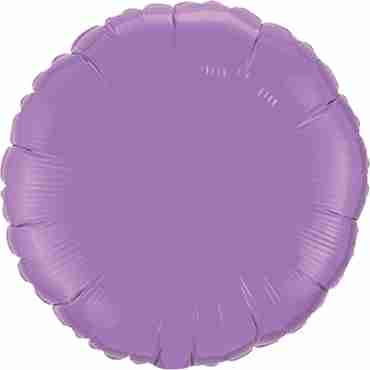 Spring Lilac Foil Round 18in/45cm