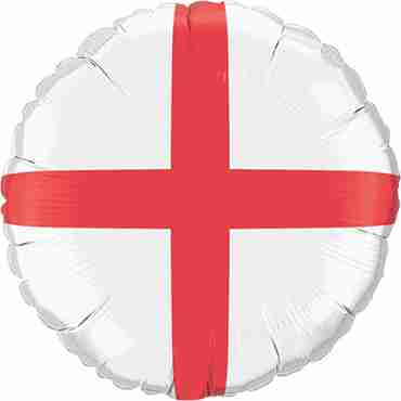 St George's Cross Foil Round 18in/45cm