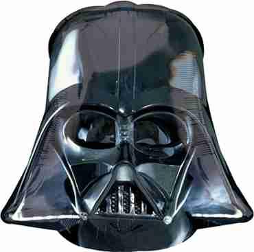Star Wars Darth Vader Helmet Black Foil Shape 25in/63cm x 25in/63cm