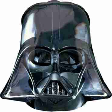 Star Wars Darth Vader Helmet Black Vendor Foil Shape 19in/48cm x 18in/45cm