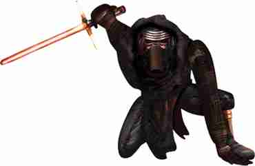 Star Wars The Force Awakens Lead Villain Airwalker 70in/177cm x 41in/104cm