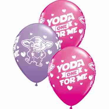 Star Wars: Yoda One For Me Fashion Wild Berry and Fashion Spring Lilac Assortment Latex Round 11in/27.5cm