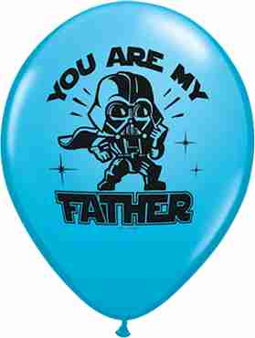 star wars you are my father fashion robins egg blue latex round 11in/27.5cm