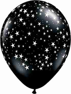 Stars Fashion Onyx Black Latex Round 11in/27.5cm