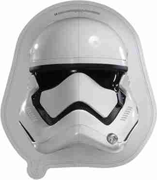 Stormtrooper Helmet Black Vendor Foil Shape 19in/48cm x 18in/45cm