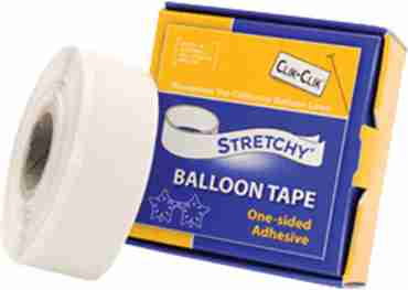 stretchy balloon tape 19mm x 7.6m