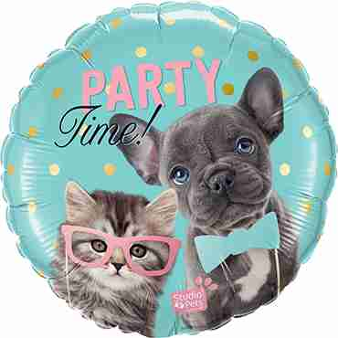 Studio Pets -Party Time Pets Foil Round 18in/45cm