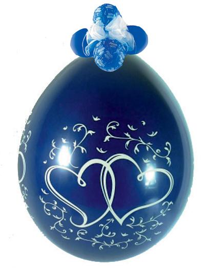 Stuffer Ballon Entwined Hearts