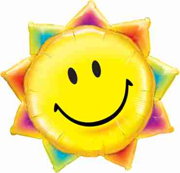 Sunshine Smile Face Foil Shape 35in/87.5cm