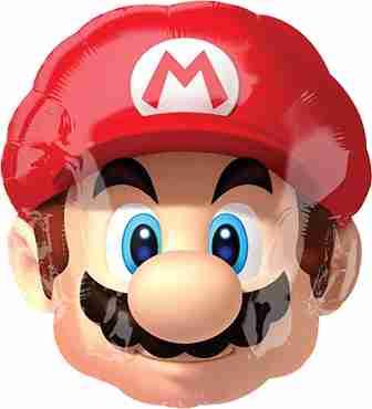 Super Mario Vendor Foil Shape 14in/35cm x 16in/40cm