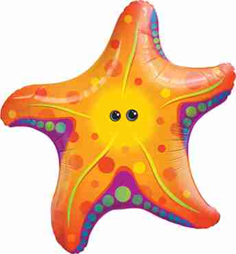 super sea star foil shape 30in/75cm