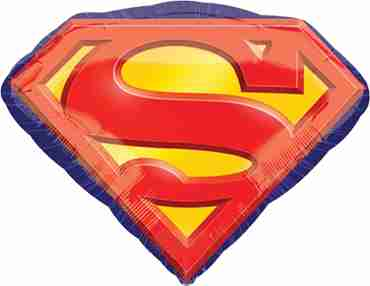 Superman Emblem Foil Shape 26in/66cm x 20in/50cm