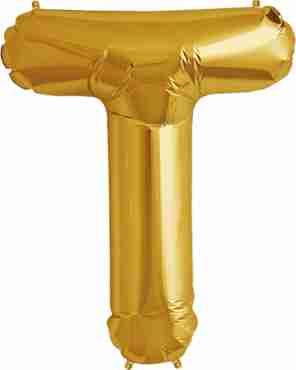 T Gold Foil Letter 16in/40cm