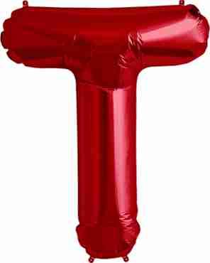 T Red Foil Letter 34in/86cm