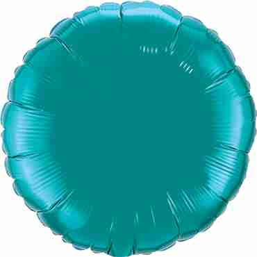 teal foil round 18in/45cm