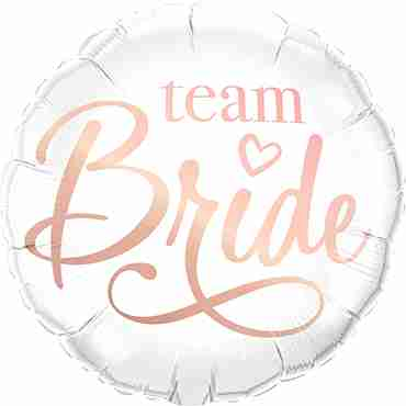 Team Bride Foil Round 18in/45cm