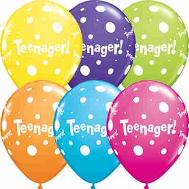 Teenager Tropical Assortment Latex Round 11in/27.5cm
