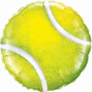 Tennis Ball Foil Round 18in/45cm