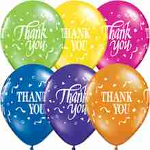 Thank You Thank You Confetti Fantasy Assortment Latex Round 11in/27.5cm