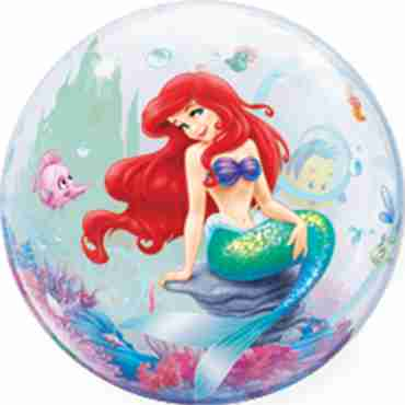 the little mermaid single bubble 22in/55cm