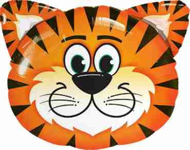 tickled tiger foil shape 14in/35cm